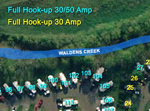 CreekSide RV Site Map