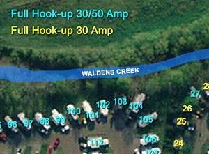 CreekSide RV Site Map