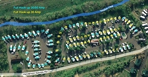 CreekSide RV Site Map. Campground