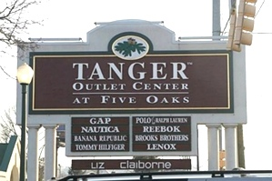 Tanger Outlet Center near Creekside RV Park Pigeon Forge TN